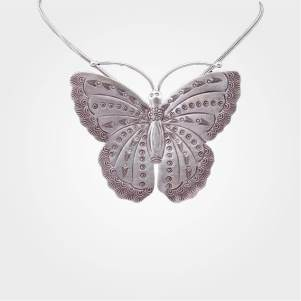 Antique Silver Butterfly Pendant for teenage women. Approx Wt-16.2gm (92.5% Pure Silver Jewellery). Get this beautiful Butterfly Pendant in a most special price. Also, visit our popular Gold and Diamond Jewelries and shop for the best products available so far.