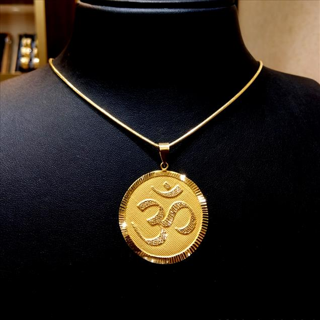 Om Pendant in Gold (22Kt Gold) Approx Wt.-6.56gm