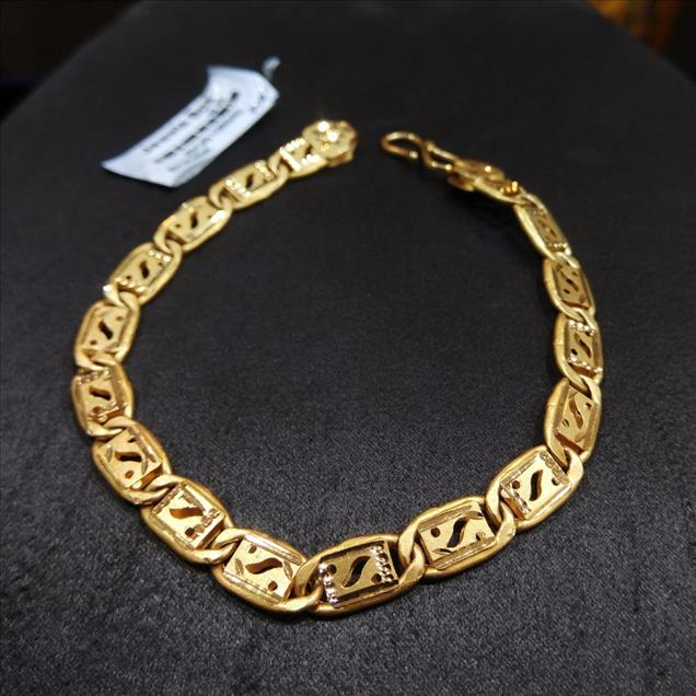 Gold Rhodium finish bangle bracelet.Approx Wt. - 11.05(22Kt). Buy gold bracelet for men at Jewels Box.  Men`s jewellery usually have patterns that are thick, dense and sturdy with not so intricate designs our heavy gold bracelet selection for the very best in unique or custom for  Men`s Gold Bracelet, We have a big Collections of  Cuff Bracelet, Large Chunky ... popular & hot Thick Gold Bracelets for Men from Jewelry & Accessories, Chain & Link Bracelets,