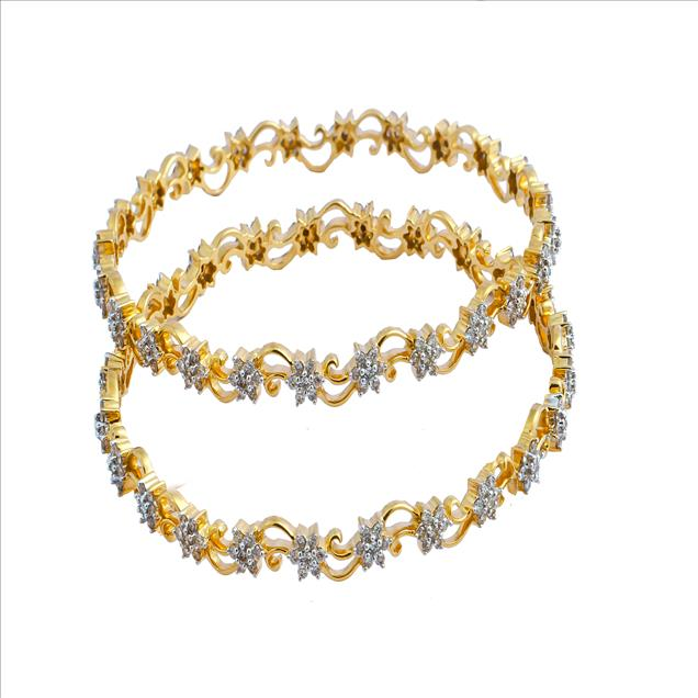 Party Wear Diamond Bangles