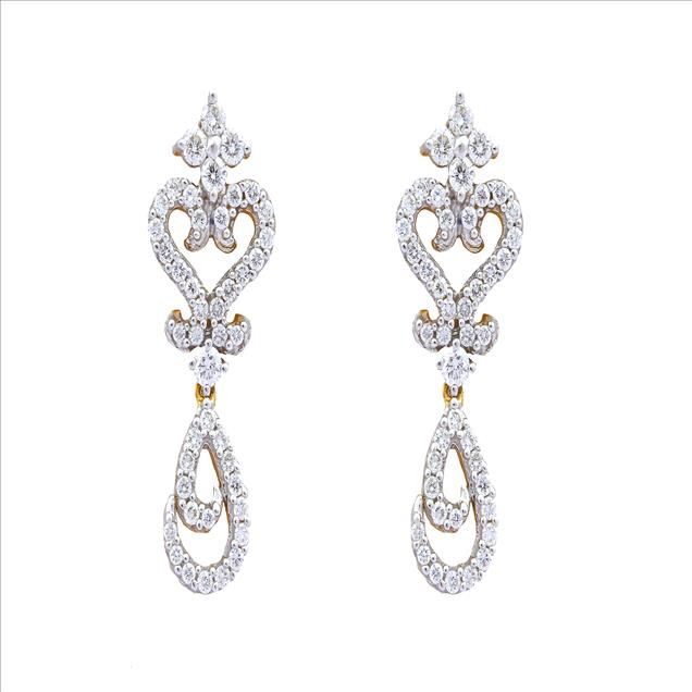 We are a renowned manufacturer and supplier of astonishing range of Diamond Studded Earring for our widely spread clients. Our offered diamond Earring is designed using superior quality basic material under the supervision of our experts. The provided Jewelry is also available in several designs, patterns, shapes and sizes according to the various choices of the clients.
